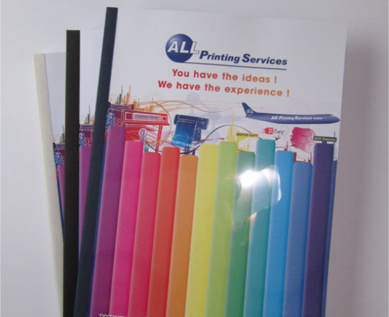 brochures dos collé