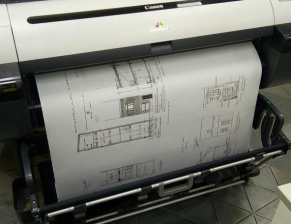 plan architecture noir blanc